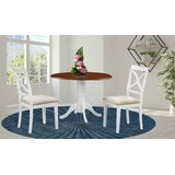 Vernell 3 Piece Drop Leaf Solid Wood Dining Set by August Grove®