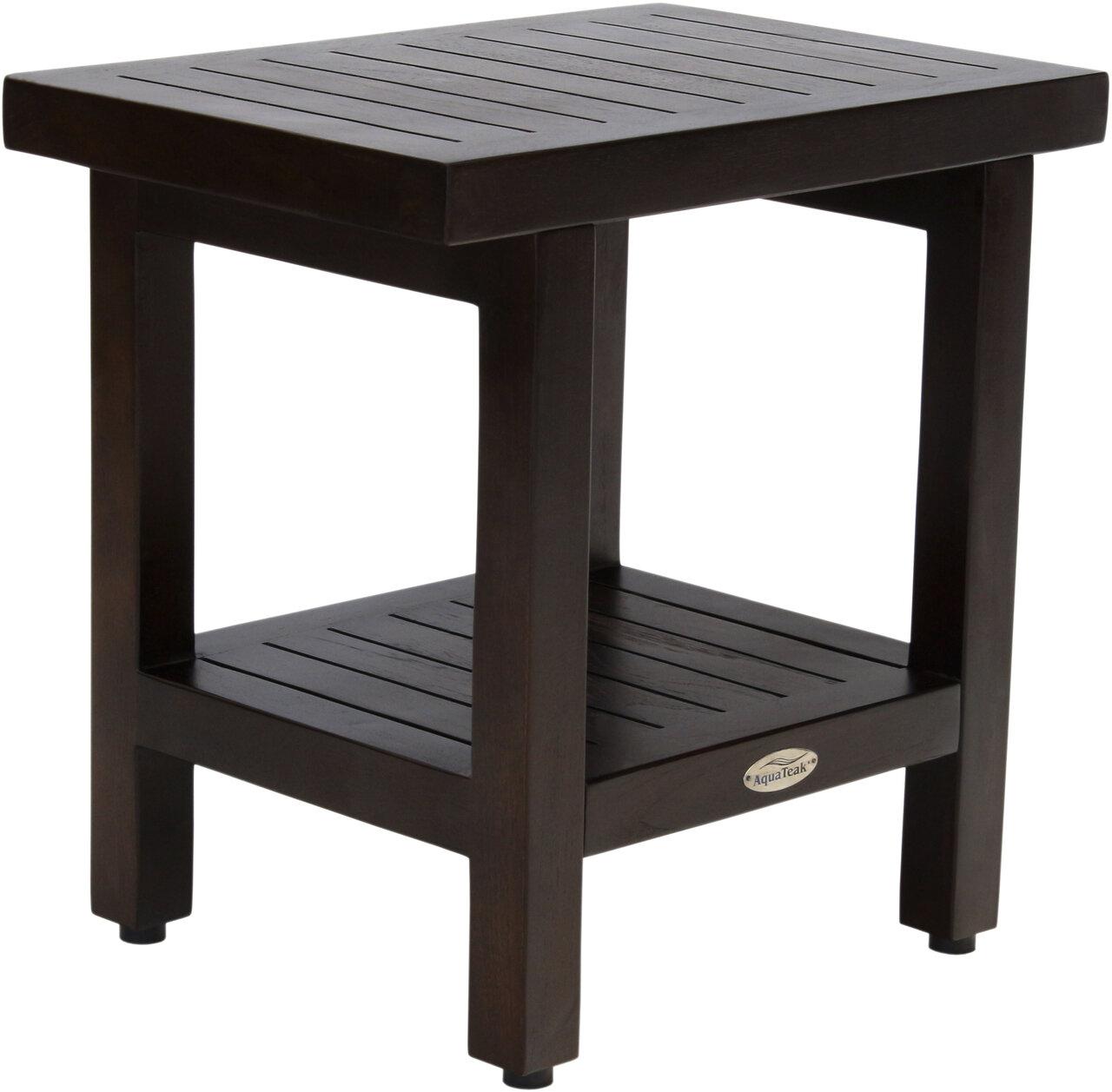 Brilliant Spa Mocha Shield Teak Shower Bench Theyellowbook Wood Chair Design Ideas Theyellowbookinfo