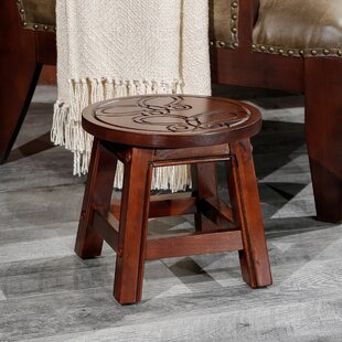 Rapp Butterflies Fairplay Carved Wooden Accent Stool by August Grove