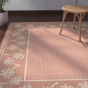 Amaryllis Loomed Rust Sand Outdoor Rug