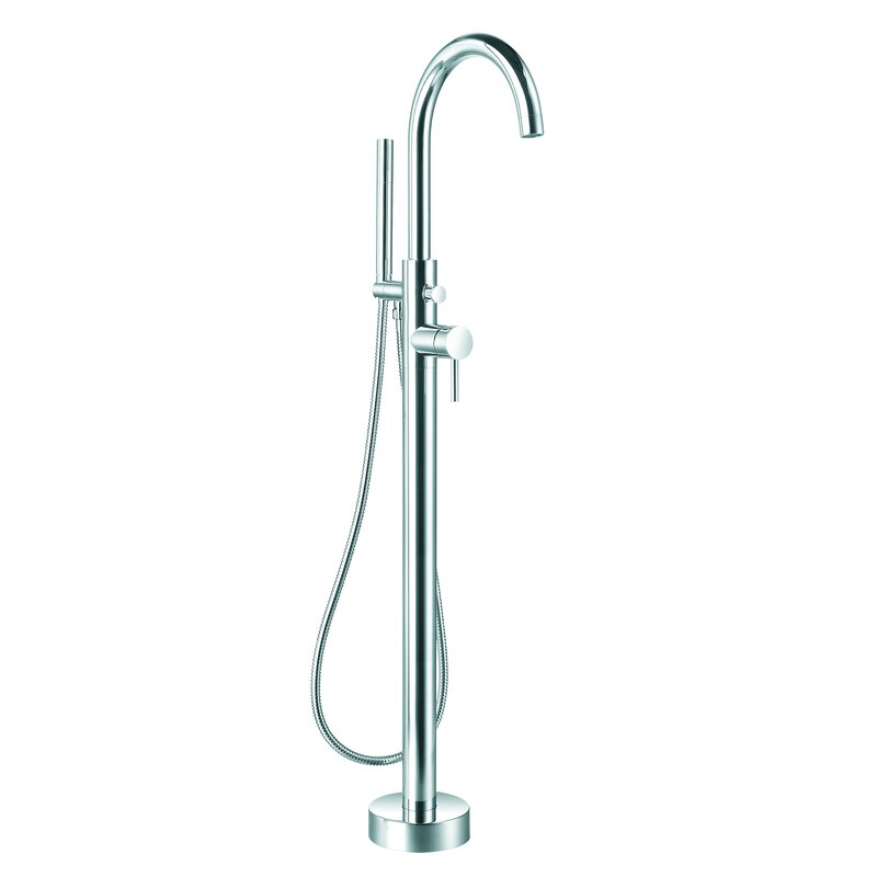Ancona Prima Single Handle Floor Mount Bathtub Faucet With Shower
