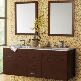 Bella 61 Double Bathroom Vanity Set with Mirror by Ronbow