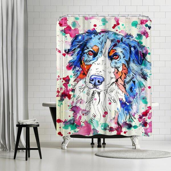 East Urban Home Eve Izzett Aussie Shepherd Ii Single Shower Curtain Wayfair