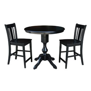 Reichel Round Top Counter Height 3 Piece Pub Table Set Canora Grey