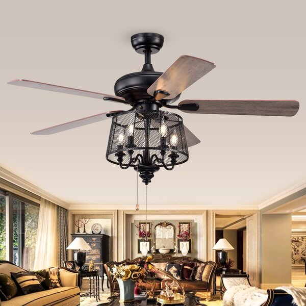 Gracie Oaks Croteau 5 Blade Ceiling Fan Light Kit