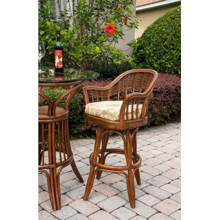 Moonsu Traditional 24 Swivel Bar Stool Bayou Breeze