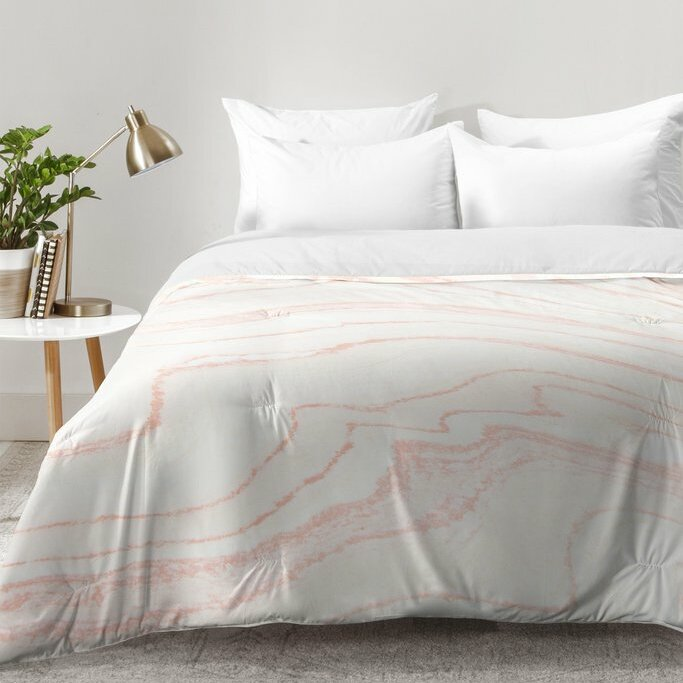 Kanode Blush Marble Comforter Set Reviews Allmodern