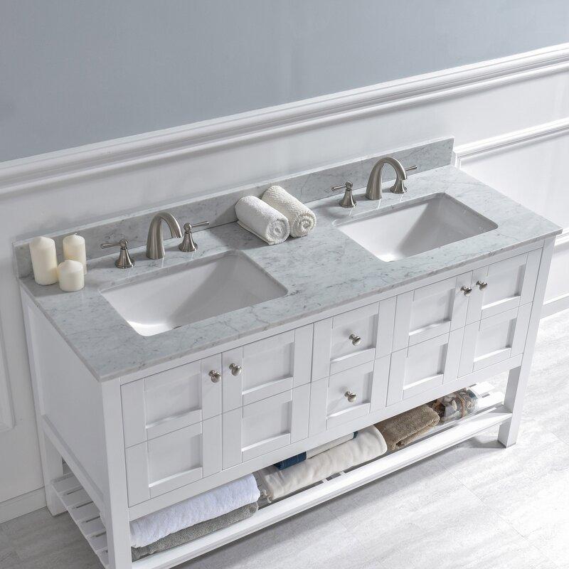 Bathroom Vanity Top In Carra White