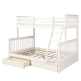 Twin over Full Bunk Bed with Drawers by Harriet Bee