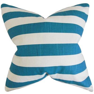 Birch Lane™ Heritage Knotts Indoor/Outdoor 100% Cotton Throw Pillow Size: 18 H x 18  W, Color: Aquarius