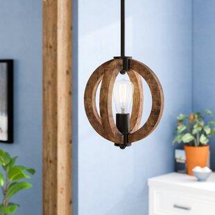 Wood pendant lights youll love wayfair orly 1 light globe pendant aloadofball Images