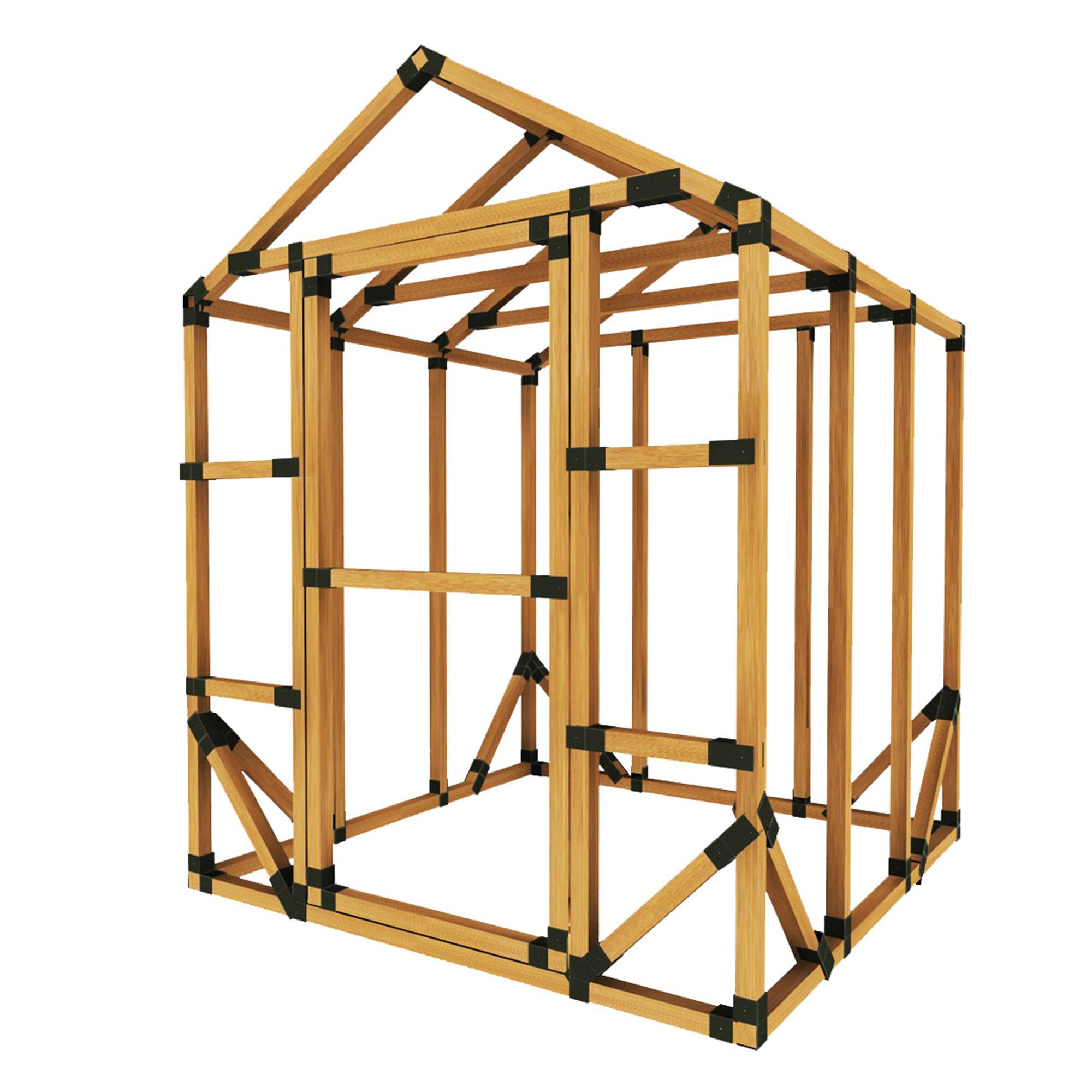 E Z Frames 6 W X 6 D Diy Storage Shed Kit Wayfair