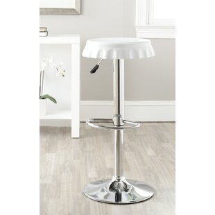 Rea Adjustable Height Swivel Bar Stool Orren Ellis