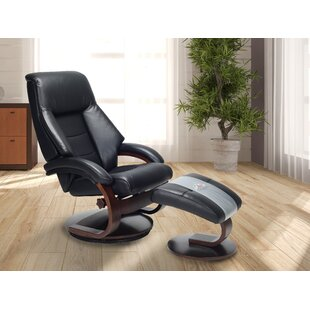 Mandal Manual Swivel Recliner with Ottoman
