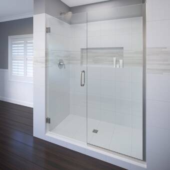 Dreamline Unidoor Plus 58 W X 72 H Hinged Semi Frameless Shower Door With Clearmax Technology Reviews Perigold