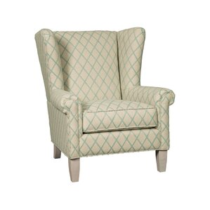 Transitional Wide Wing Chair by Paula Deen H..