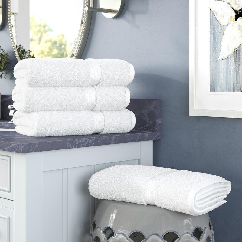 Three Posts Huson 4 Piece Egyptian Quality Cotton Hand Towel Set Reviews Wayfair