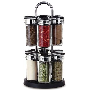 12 Jar Spice Jars & Rack Set