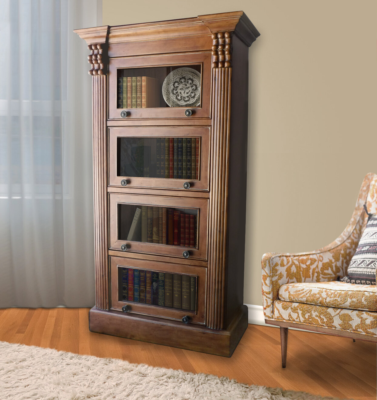Beckles Birch Wood Layer Barrister Bookcase