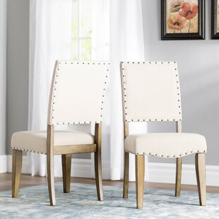 Crisp Upholstered Dining Chair (Set of 2) Three Posts