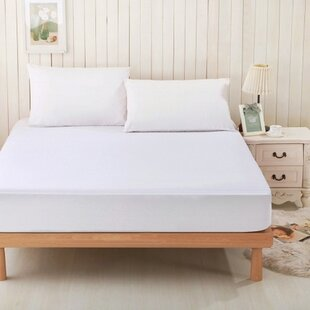 Viscose Rayon From Bamboo Terry Hypoallergenic Waterproof Mattress Protector by Alwyn Home Amazing