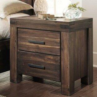 Olsson Wooden 2 Drawer Nightstand by Williston Forge