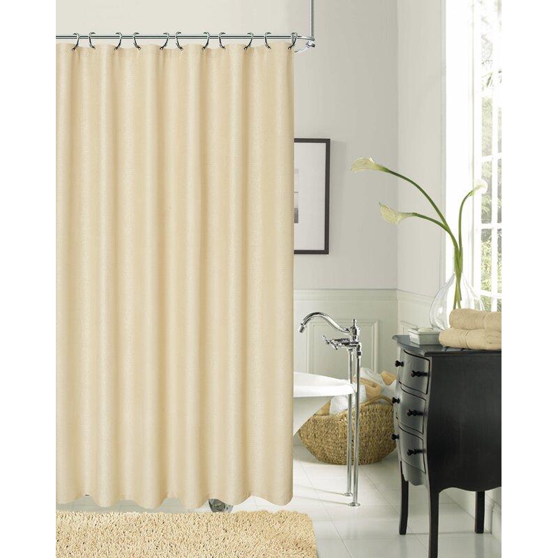 Everly Quinn Drury Textured Shower Curtain