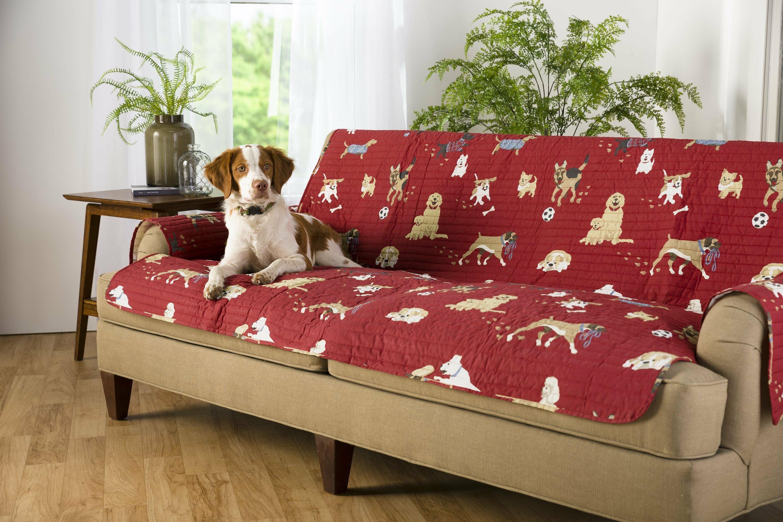 Plow Hearth Dog Park Box Cushion Sofa Slipcover Wayfair