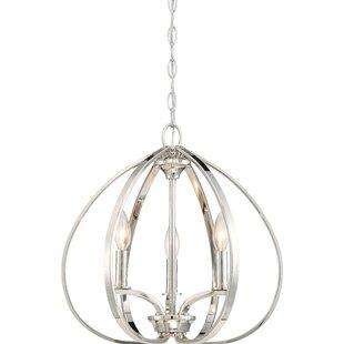 Edgebrooke 3-Light Globe Chandelier
