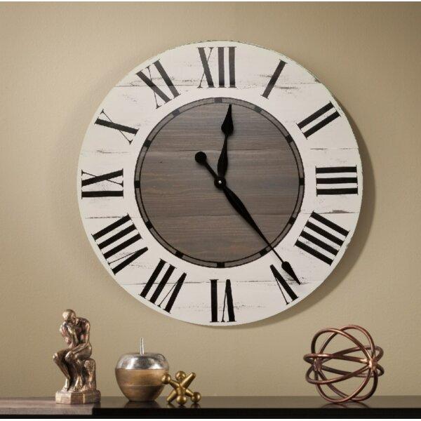 Gracie Oaks Oversized Vanwagoner Farmhouse Wall Clock Reviews