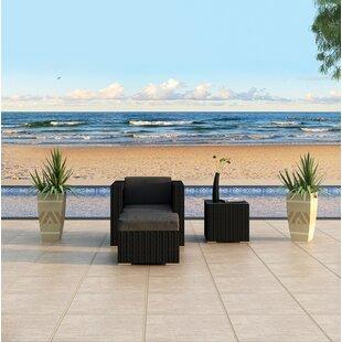 Azariah 3 Piece Sunbrella Seating Group with Cushions