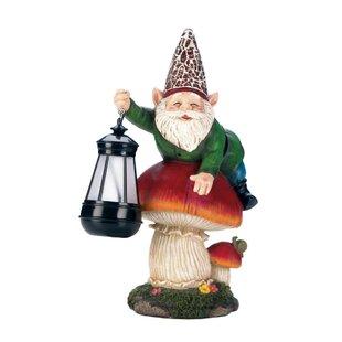 Solar Gnome On Mushroom Statue