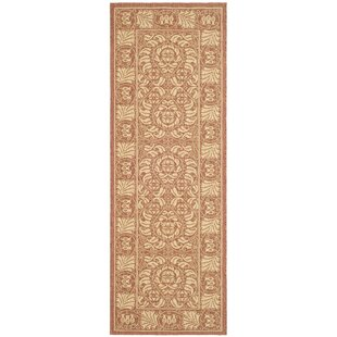 Shani Rust/Sand Indoor/Outdoor Area Rug by Bayou Breeze
