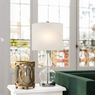 Affordable Clarksville Glass 20.5 Table Lamp By House of Hampton