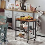 Hassell Kitchen Cart with Manufactured Wood Top by Millwood Pines