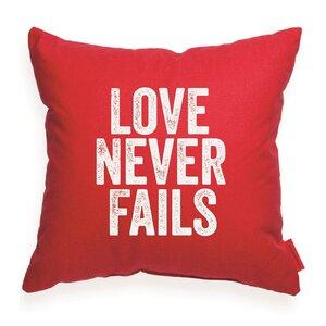 Expressive Love Never Fails Throw Pillow