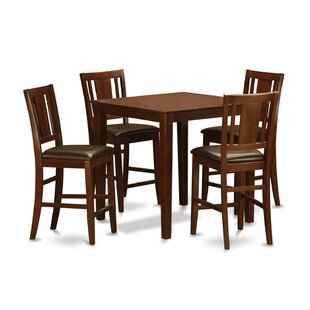 5 Piece Counter Height Pub Table Set Wooden Importers