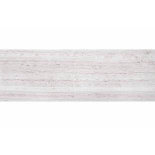 Wood Grain 8 inch  x 24 inch  Marble Field Tile in Gray