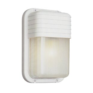 Bargain Hinnant 1-Light Outdoor Bulkhead Light By Wrought Studio