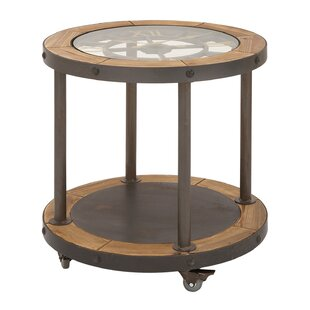 Clock Top industrial End Table by Urban Designs