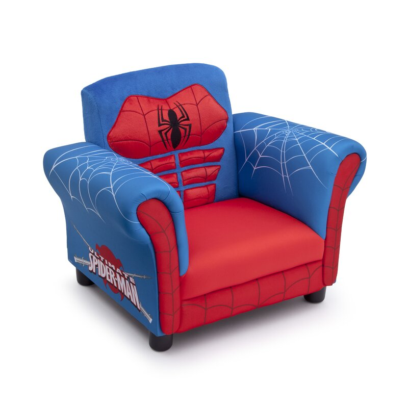 Spider Man Kids Upholstered Club Chair