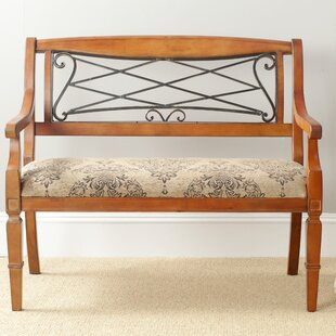 Perla Wood Bench by Alcott Hill