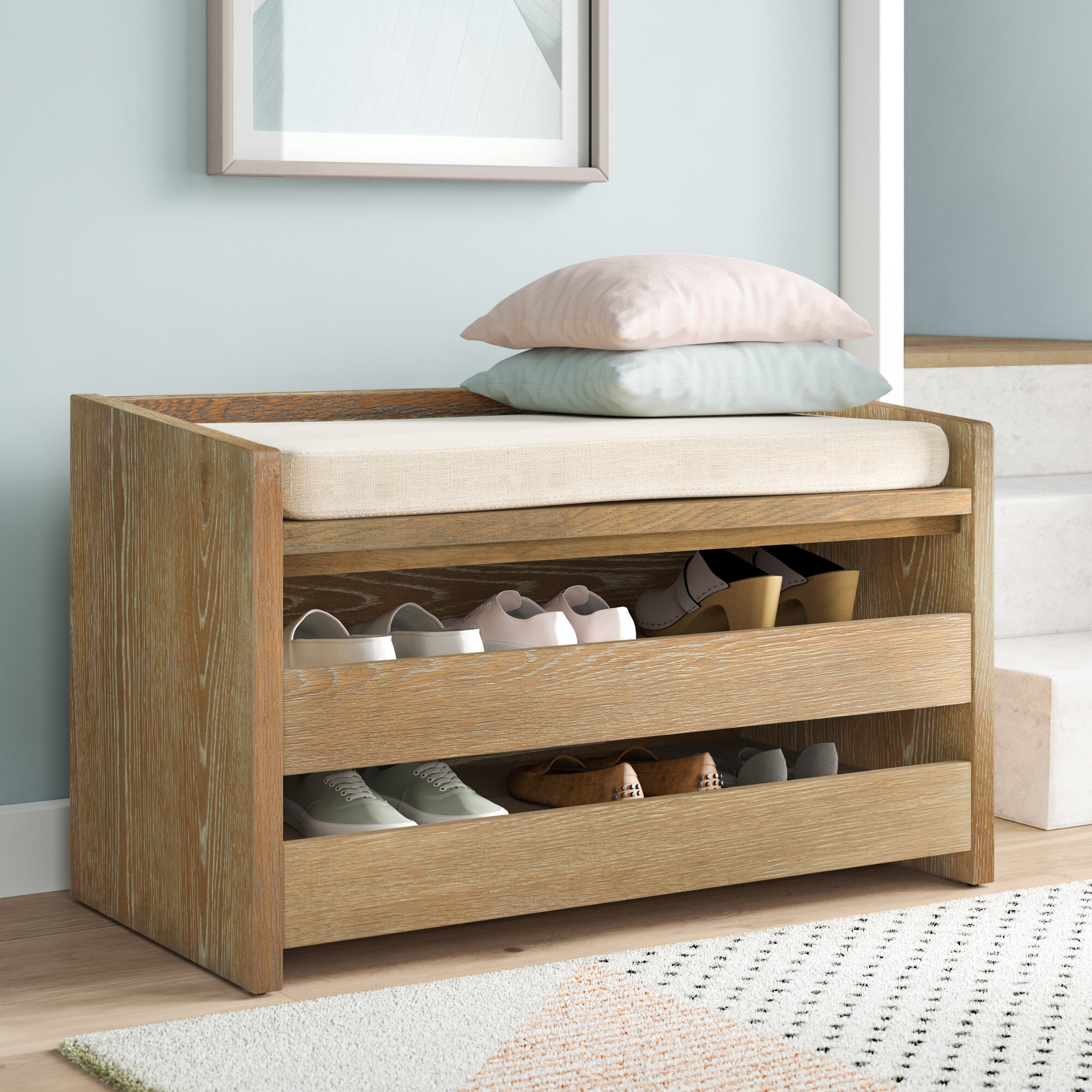 Picture of: Dotted Line Byron Shoe Storage Bench Reviews Wayfair