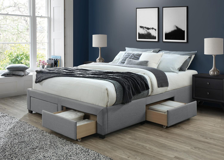 Red Barrel Studio Waggoner Cosmo Queen Upholstered Storage Platform Bed Wayfair