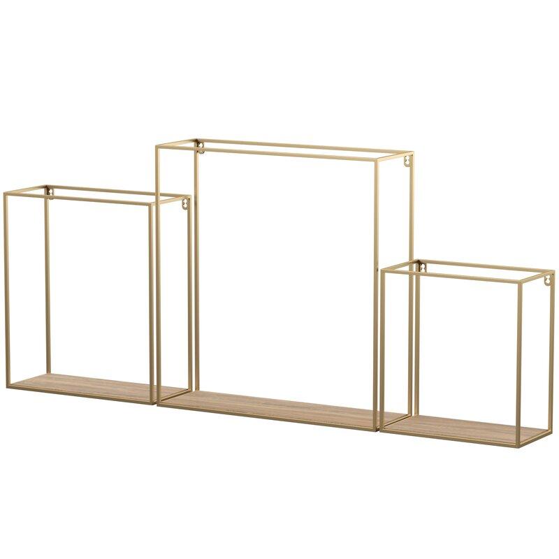 Hudspeth 3 Piece Wall Shelf Set
