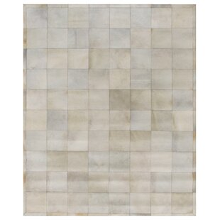 Best Reviews Natural Hide Hand-Tufted Cowhide White Area Rug By Exquisite Rugs