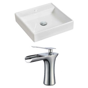 Best Ceramic Square Vessel Bathroom Sink with Faucet By Royal Purple Bath Kitchen