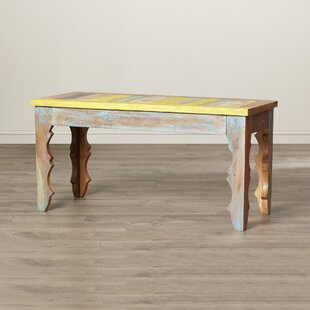 Adelinda Wood Bench by Highland Dunes