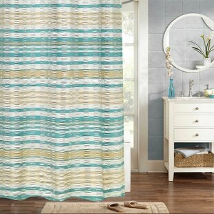 Fleener Woven Jacquard 100% Cotton Single Shower Curtain by August Grove Discount