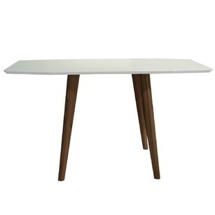 Krueger Mid-Century Modern Extendable Dining Table Wrought Studio